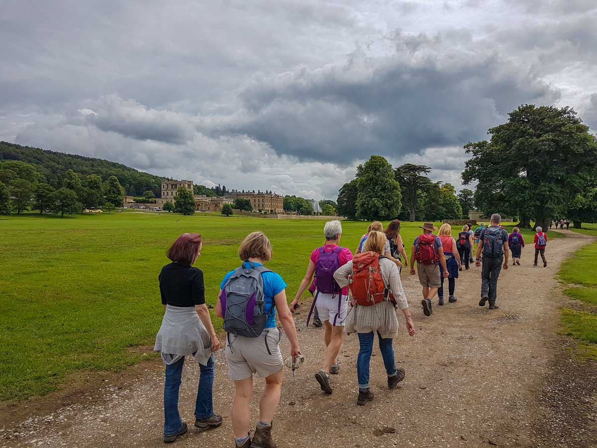 One Step Walkers visiting Chatsworth House in Derbyshire